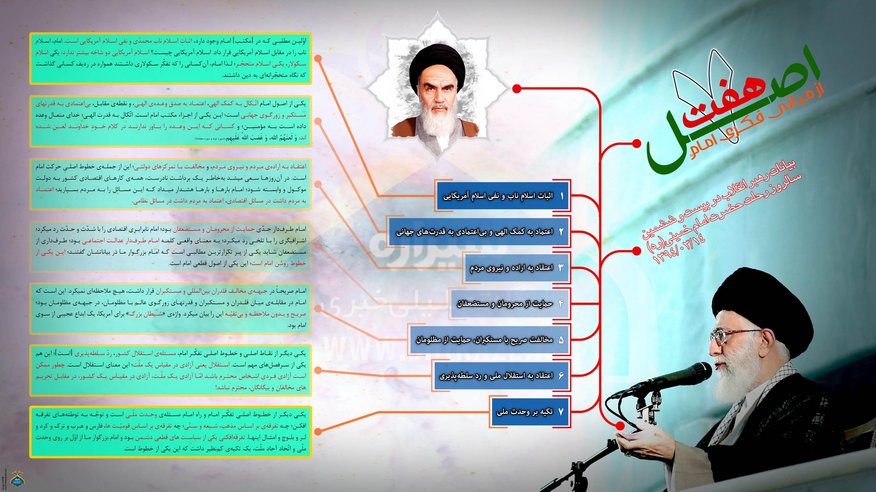 هفت اصل از مبانی فکری امام